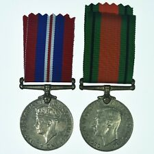British WW2 Medal Pair 1939-45 South Africa Issue Named To N9123 T.FORSTER