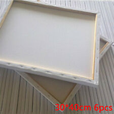 """6PACK 30 X 40CM 12"""" x16"""" BLANK PLAIN STRETCHED PAINTING ART Canvas/ Boards White"""