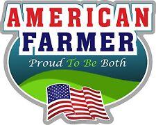 """1065 ProSticker (One) 4""""x 5"""" American Farmer Flag Decal Sticker"""