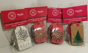 NEW SEALED Martha Stewart Holiday Christmas Gift Tags - 40 Snow Flake Xmas Tree
