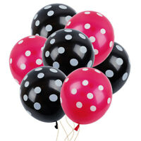 12Pcs Ladybug Red/Black Polka Dot Latex Balloons Baby Shower Mickey Mouse Party