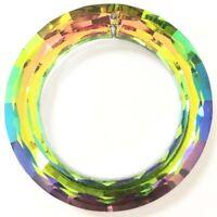 2Pcs Faceted Rainbow Crystal Donut Pendant Bead 50x9mm L016