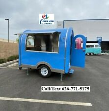 New Electric Mobile Food Trailer Enclosed Concession Stand Design 4 Hitch Blue