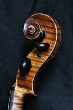 """4/4 - Geige mit Zt. """"M.A. BERGONZI CREMONA 1755 / H. DÖLLING"""" & Brandstempel"""