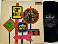 The Wilburn Brothers - City Limits LP 1961 1st UK Press Brunswick LAT 8501 Mono