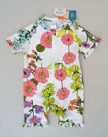 BNWT NEXT Baby Girls Floral UPF 50+ Sunsafe UV Protection Surf Swimsuit 3-6month