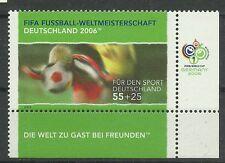BRD/Fussball-WM 2006 MiNr 2327 ** Eckrand rechts unten