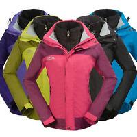 Womens Windbreaker Waterproof 3in1 Softshell Jacket Inner Outdoor Trekking Coats