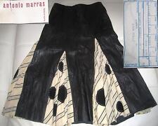 ANTONIO MARRAS Gonna Pelle trend 2018 Pois bianco nero Skirt Leather Rock Leder
