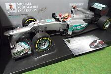 MERCEDES AMG W03 2012 SCHUMACHER F1 team 1/18 MINICHAMPS 110120207 formule 1