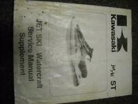 1991 Kawasaki Jet Ski ST Service Shop Repair Manual OEM