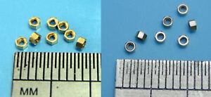 Miniature Brass Hex Open Full Nuts x10 M0.6 M0.8 M1.0 M1.2 M1.4 M1.6