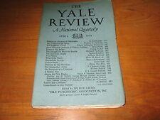 1924 Yale Review, Santayana, E.A. Robinson, Zona Gale, Repplier, Parkman, Etc.