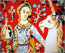LADY AND UNICORN ~ NEW Counted Cross Stitch KIT (Larger Design) #ML108
