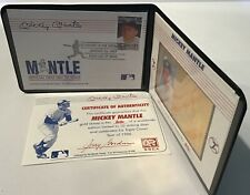Mickey Mantle Commemorative Gold Stamp 1996 1997 St Vincent & The Grenadines COA