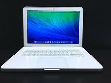 "Apple Macbook Mac Laptop Computer 13"" White Unibody / OSX-2017 / 3 Year Warranty"