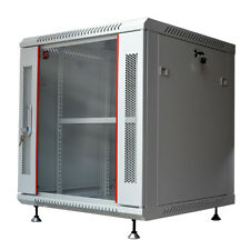 "15U 24"" Deep Gray Wall Moun Network It Server Cabinet Enclosure Rack Glass Door"