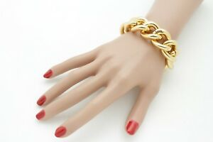 Women Gold Metal Chunky Chain Thick Links Hip Hop Fashion Jewelry Sexy Street