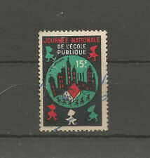 France National Public School Day 15F charity stamp/label