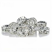 1000pcs Crystal Rhinestone Wavy Spacer Beads Jewelry Making Findings 8mm BULK