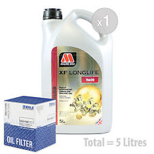 Engine Oil and Filter Service Kit 5 LITRES Millers XF Longlife 5w-30 5L