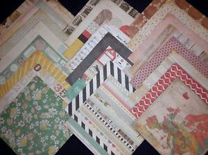 12X12 Scrapbook Crate Paper Cardstock DIY Shop Spring Vintage Ephemera 24 Lot