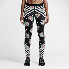100% Auth Nike Women Pro Midnight Floral Rose Training Tights sz XS [777871-010]
