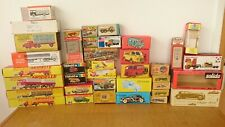 39 BOITES D'ORIGINE QUIRALU JRD LES ROUTIERS SCHUCO SOLIDO WIKING DINKY TOYS TBE