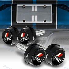 Car Truck 4 Pcs Black License Plate Frame Frames Security Screw Bolt Caps Covers
