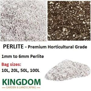 PERLITE Premium Horticulture Grade 1mm to 6mm in 10L, 20L, 50L and 100L bags