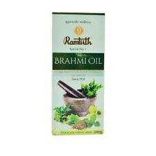 Ramtirth Brahmi Oil Pure Coconut Oil 200ml Original Blend Of 2 herbs Free Ship.