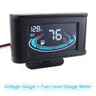 Lcd Digital Car Truck Voltmeter Voltage Gauge Fuel Level Gauge Meter Universal