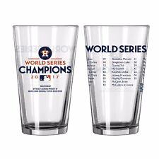 2017 World Series Champions Houston Astros Boelter Roster Glass 16oz