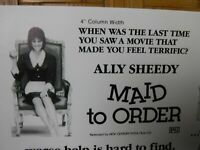 MAID TO ORDER Movie Mini Ad Sheet Vintage Advertising Poster Film Ally Sheedy