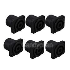 6x Speakon Female Jack Audio Speaker Cable 4Pole Panel Chassis Socket Connectors