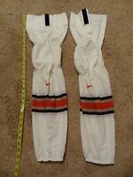 New Nike Swift Ice Hockey Socks Long Size White Pro Stock Shin Ohio State Bauer