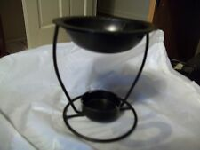 """HOME DECORATIVE 4"""" TALL TEA LIGHT CANDLE HOLDER BLACK INCENSE  SCENTED WAX"""