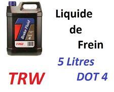 5L DE LIQUIDE HYDRAULIQUE POUR EMBRAYAGE TYPE DOT4 TRW pour Peugeot