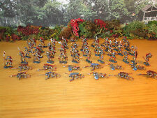 11FP LOT OF 54 PAINTED 1/72 FRENCH MIDEVIL SOLDIERS ON FOOT ASSAULT CLIMBERS