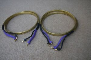 ANALYSIS PLUS GOLDEN OVAL LOUDSPEAKER CABLES 2MTR (SPADE TO SPADE)