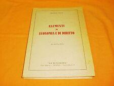 michele lecce elementi di economia e diritto la scaligera 1939