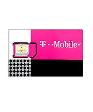 T-Mobile Triple Sim Card Mini + Micro + Nano • Gsm 4Glte • New + Plus $25 off