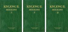 KIM JONG IL BIOGRAPHY VOLS 1,2,3 North Korea DPRK Book KDVR corea