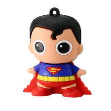 1pc 16GB Superman Super Hero Boy Keychain USB Flash Thumb Drive USA Shipper
