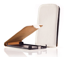 Housse Etui Coque Luxe (CUIR SLIM BLANC) ~ Apple iPhone 4 / iPhone 4S