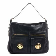 MARC JACOBS Leather Lisa Hobo Black Bag Handbag