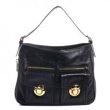 MARC JACOBS Leather Lisa Hobo Black Bag Handbag