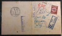 1951 Haifa Israel Doar Ivri Military Post Office Censored Receipt Cover