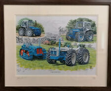 Last Of County Tractors Picture Print Rare Celebrates 75 years Large A3 No 250