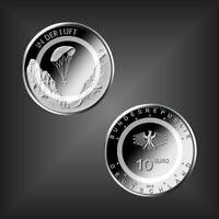 10 EURO Polymerring Gedenkmünze -In der Luft- BRD Deutschland -unc.